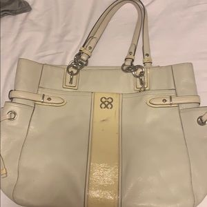 Large off white coach bag